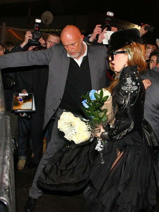 Lady Gaga v Moskvě.