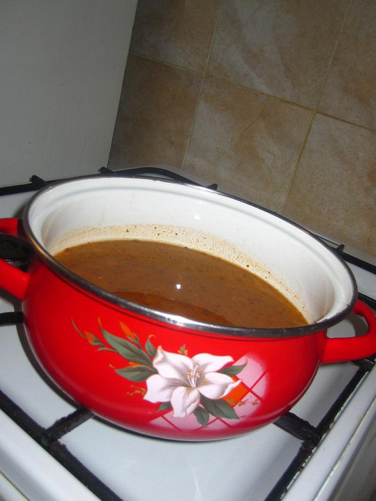 Pojkarová měla pro Top Star připravenou i dršťkovou polévku.