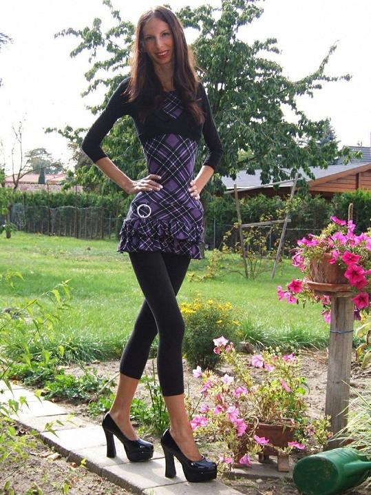 Ioana váží při výšce 168 centimetrů 38 kilogramů.