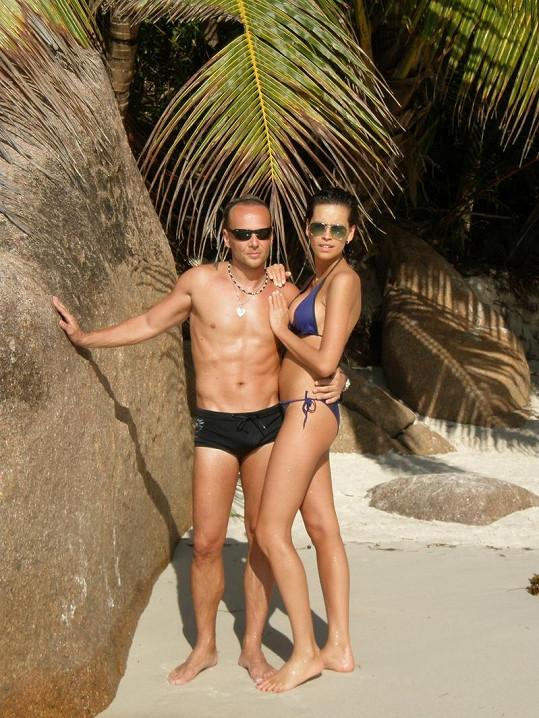Kateřina Votavová s přítelem Jiřím Wohlmannem si užívali na Seychelách.