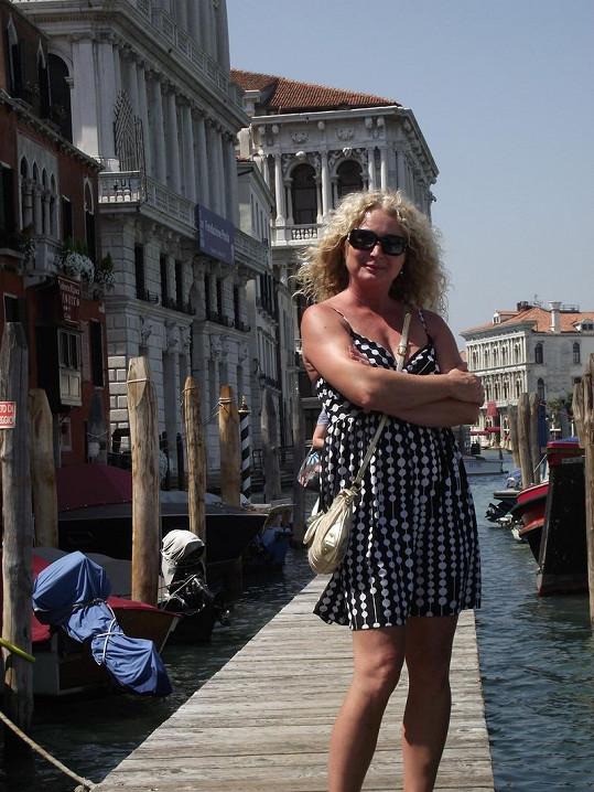 Světlana na náměstí Svatého Marka v Benátkách.