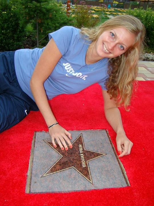 Petra Kvitová se svojí hvězdou.