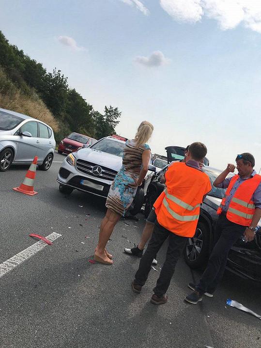 Kateřina Brožová měla nehodu na D1.