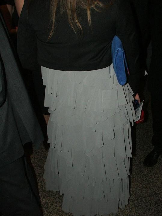 Petra Nesvačilová svůj zadek ukrývala pod volánovou sukní.