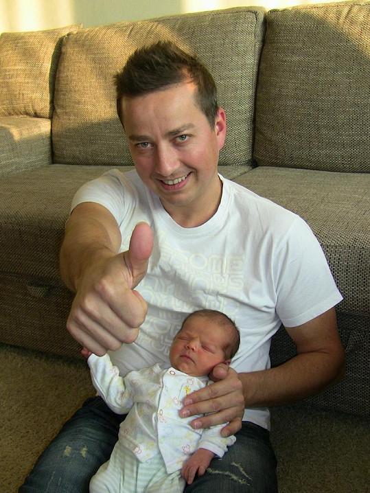 Petr Bende se synem Maxem.