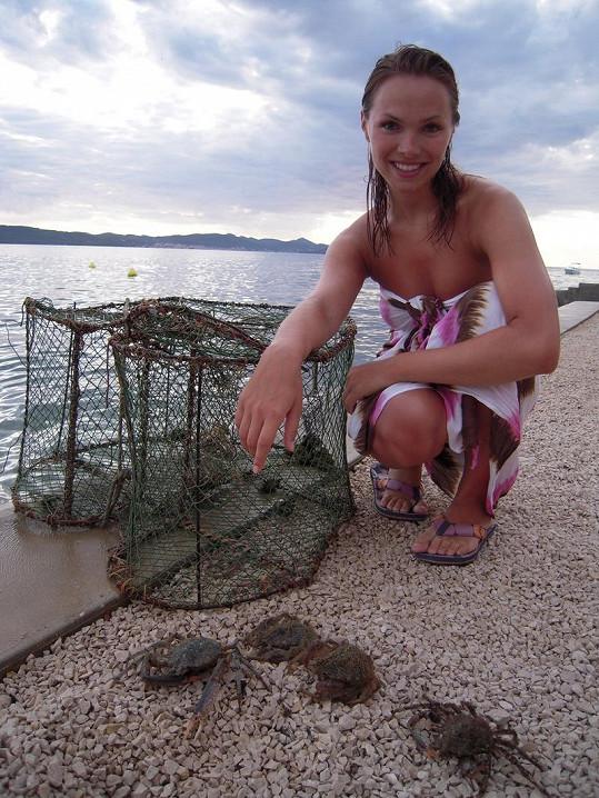 Kamila miluje kraby.