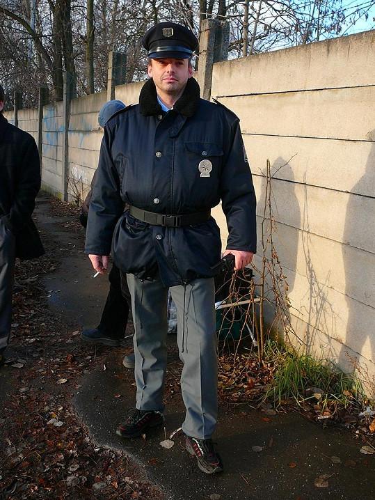 Václav Čížkovský si zahrál policistu v seriálu První oddělení.