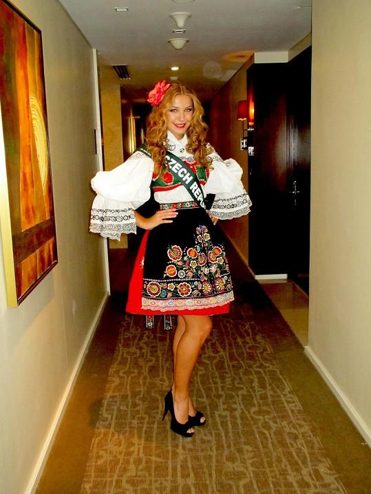 Modelka a finalistka České Miss 2011 Šárka Cojocarová.