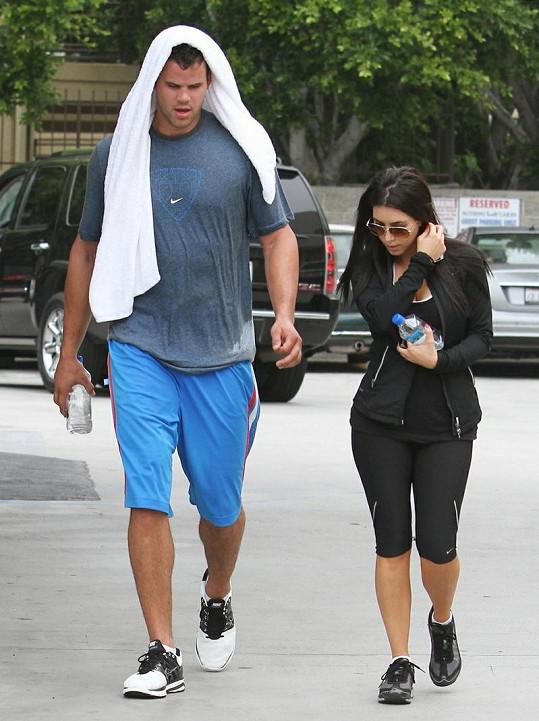 Kim s budoucím manželem Krisem.