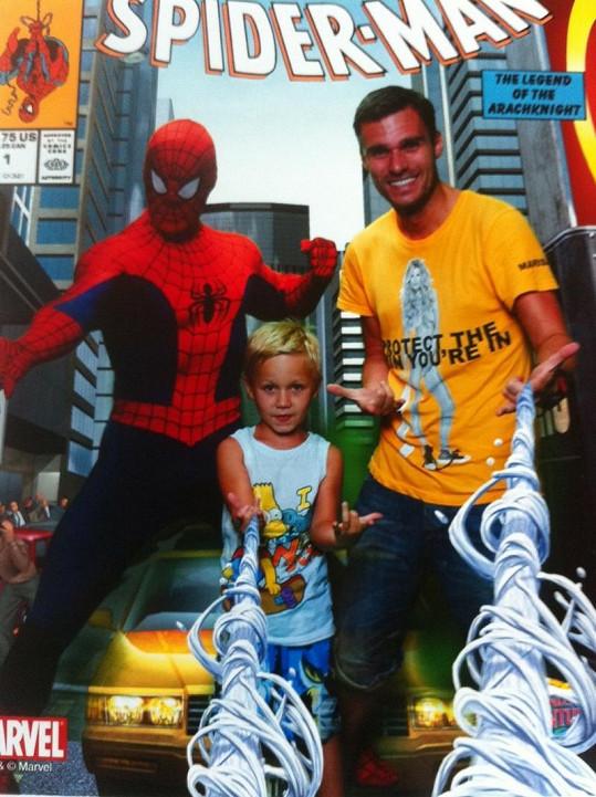 Spiderman nejvíce nadchl malého Kubíka.