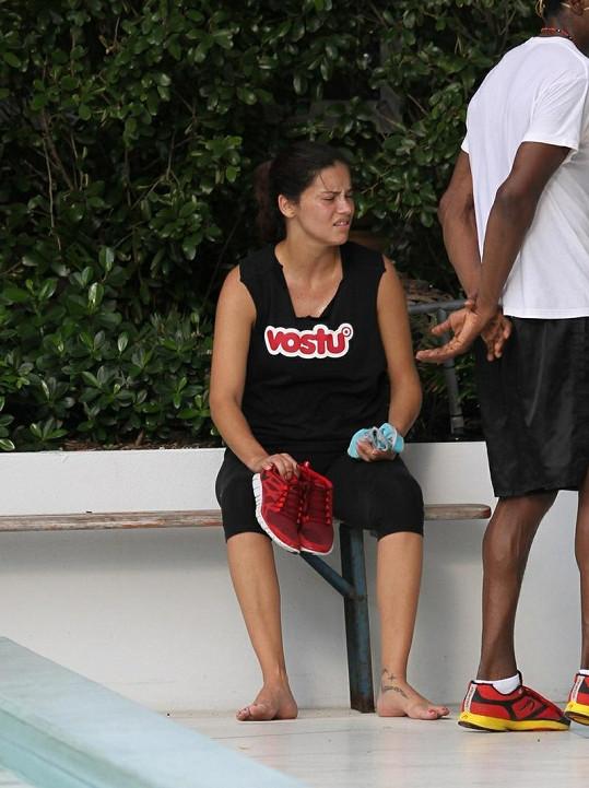 Adriana Lima po tréninku.