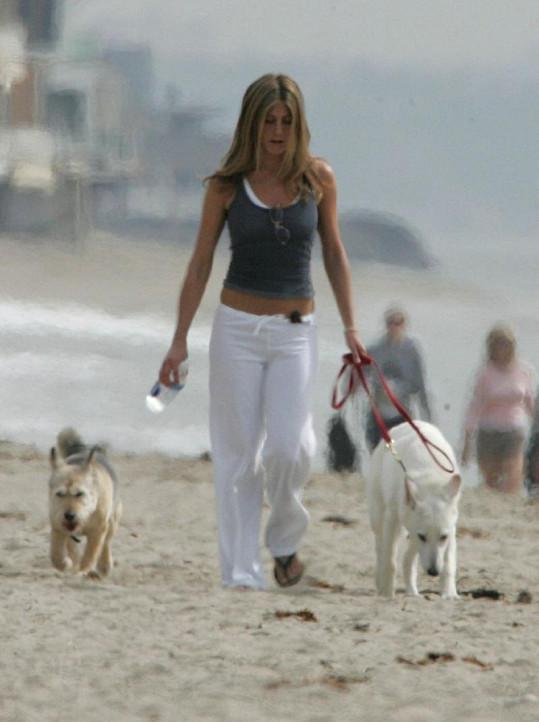Jennifer Aniston vždy měla nějaké psí kamarády.