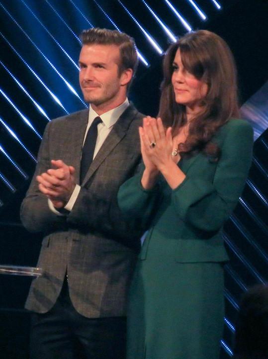 Vévodkyně s Davidem Beckhamem předávali ocenění Sportovec roku.