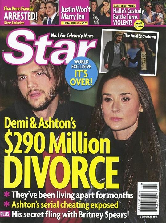 Titulní strana časopisu Star.