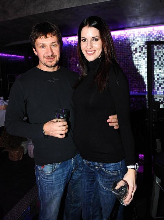 Lucie Křížková s manželem Davidem.