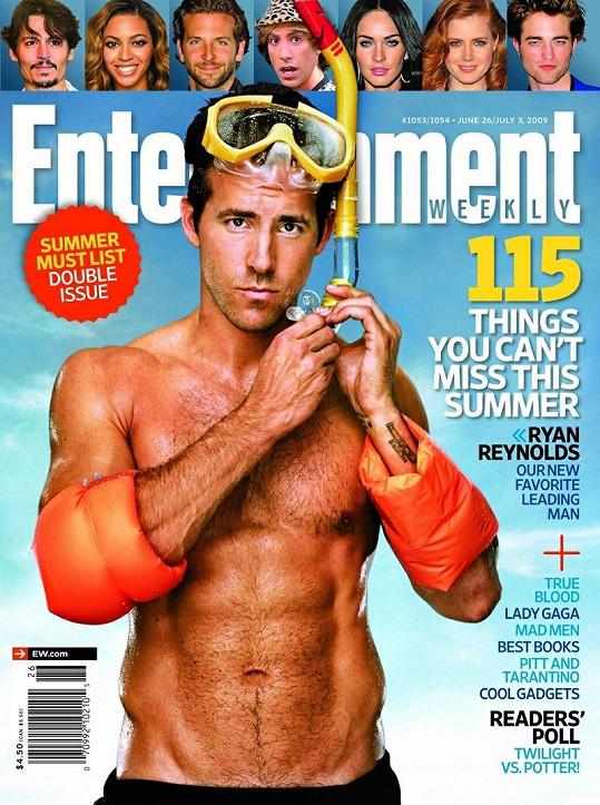 Krásný herec v roce 2009 na obálce časopisu Entertainment Weekly.