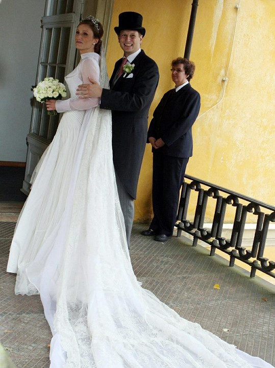 Šťastní novomanželé.