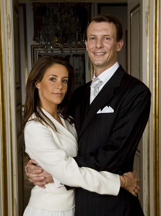 Princ Joachim Dánský s manželkou Marií.