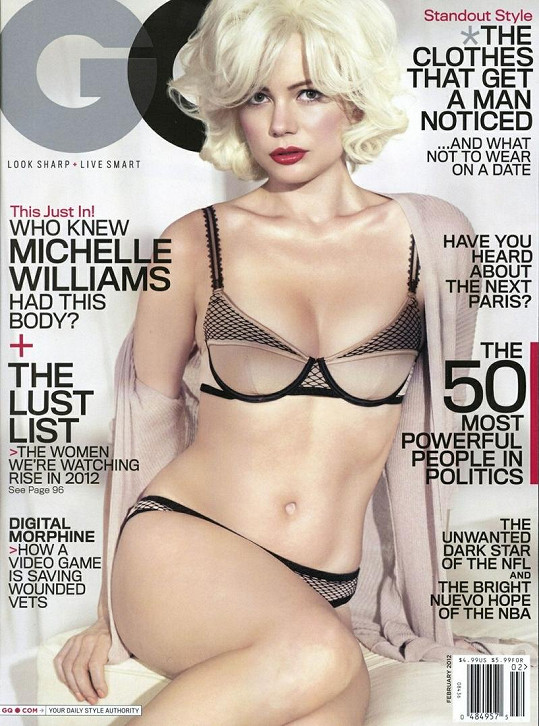 Michelle Williams na obálce časopisu GQ.