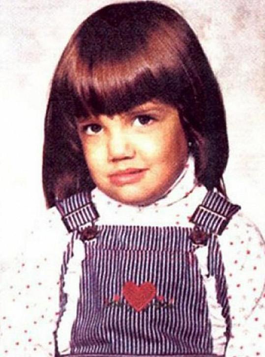 Roztomilá Katie Holmes v dětství.