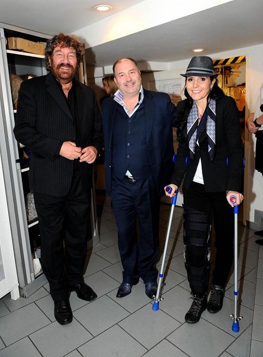 Martina s Michalem Davidem a Zdeňkem Troškou.
