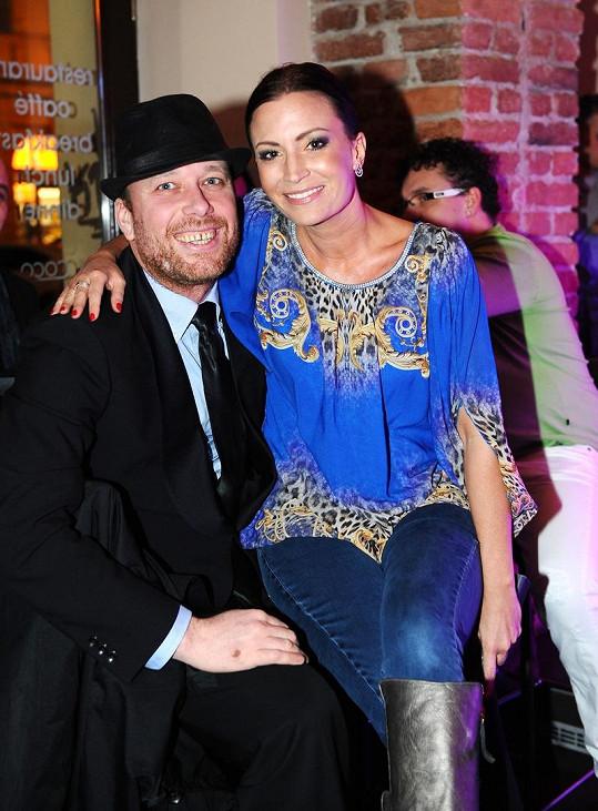Gábina Partyšová a DJ Lucaso si večer užili.