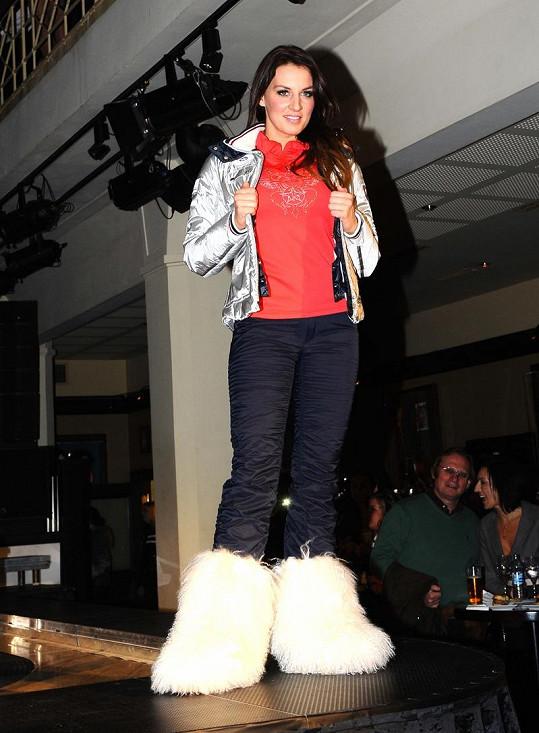 Lucie Králová na módní show Bogner.
