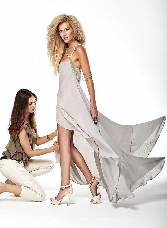 Takhle krásná byla Jitka během focení kampaně pro Českou Miss.