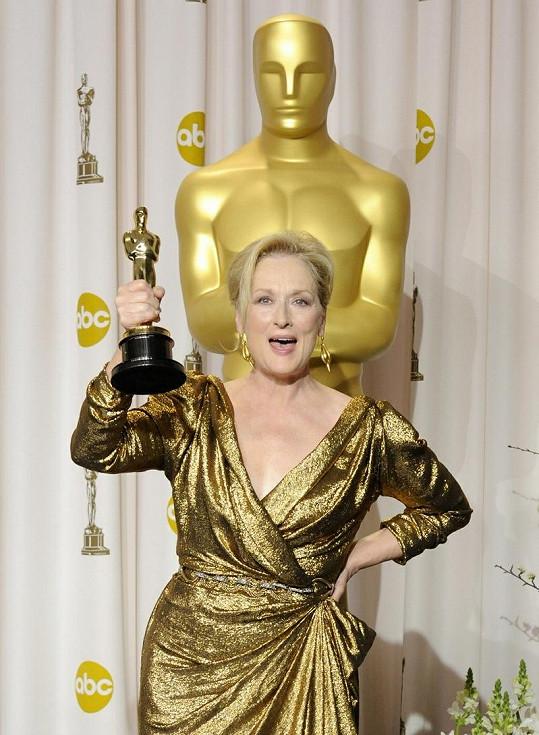 Meryl Streep je majitelkou třetího Oscara. Tentokrát za snímek Železná Lady.