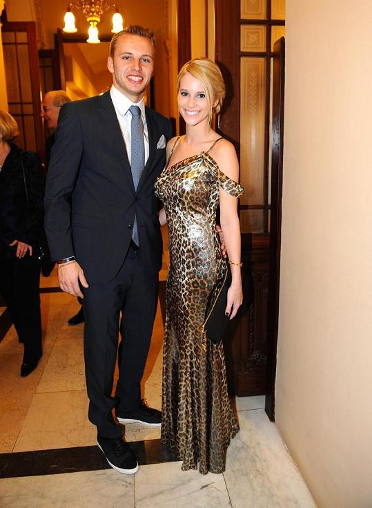 Michal Kadlec s bývalou přítelkyní.