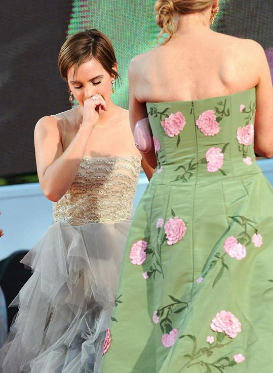 Emma Watson propukla v pláč.