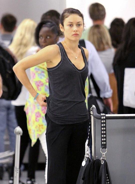 Olga na letišti v Miami.
