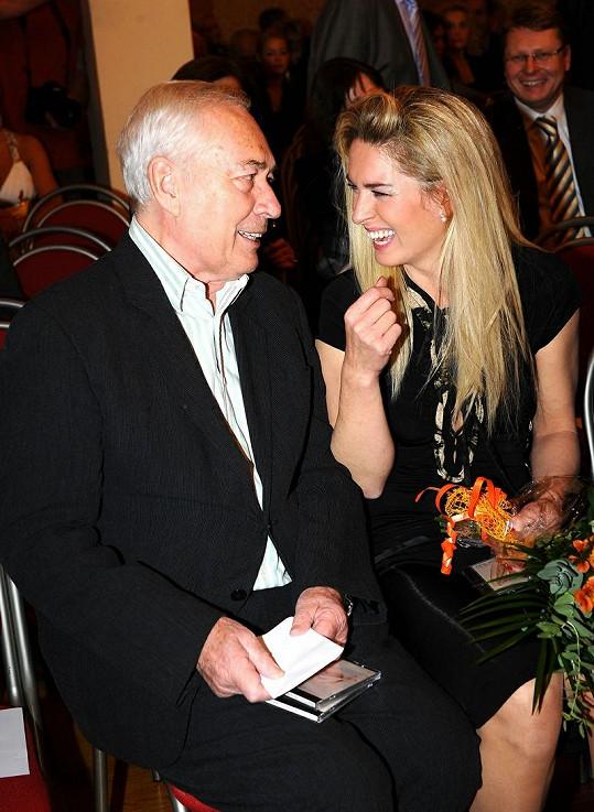 Olga Menzelová s Liborem Peškem.