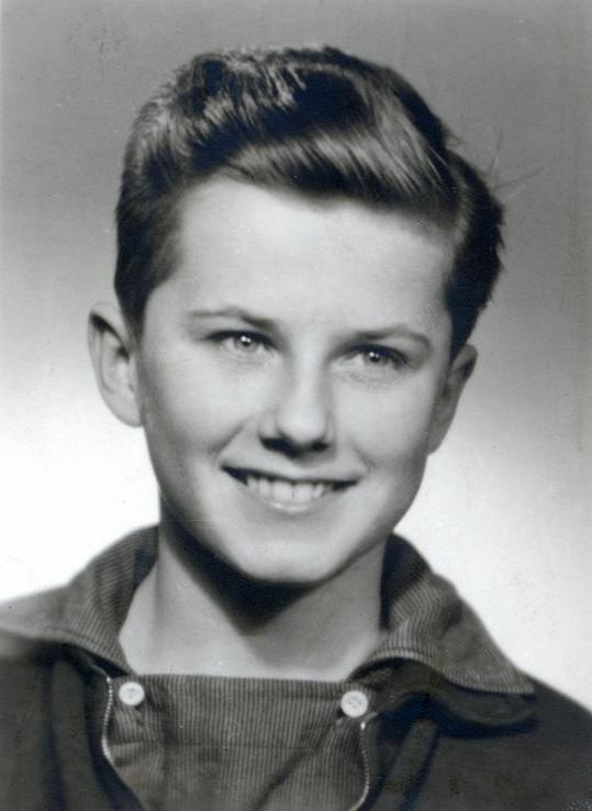 Takhle vypadal Ladislav Potměšil v pubertě.