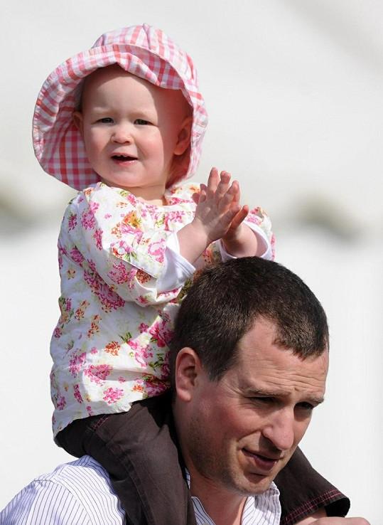 Peter Phillips s prvorozenou dcerkou Savannah.