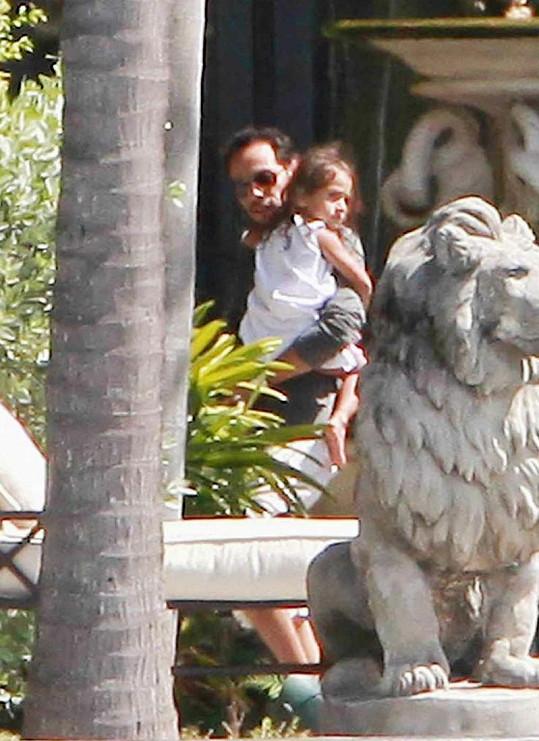 Marc Anthony s dcerkou Emme.