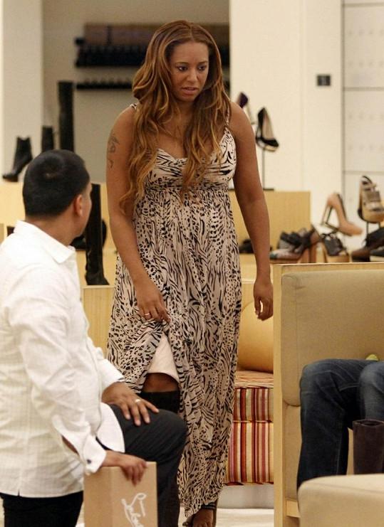 Mel B před porodem.