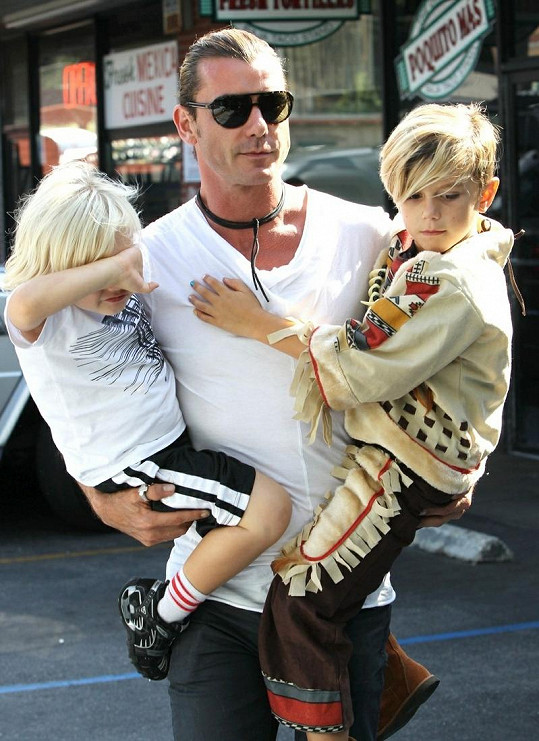 Gavin Rossdale se syny.