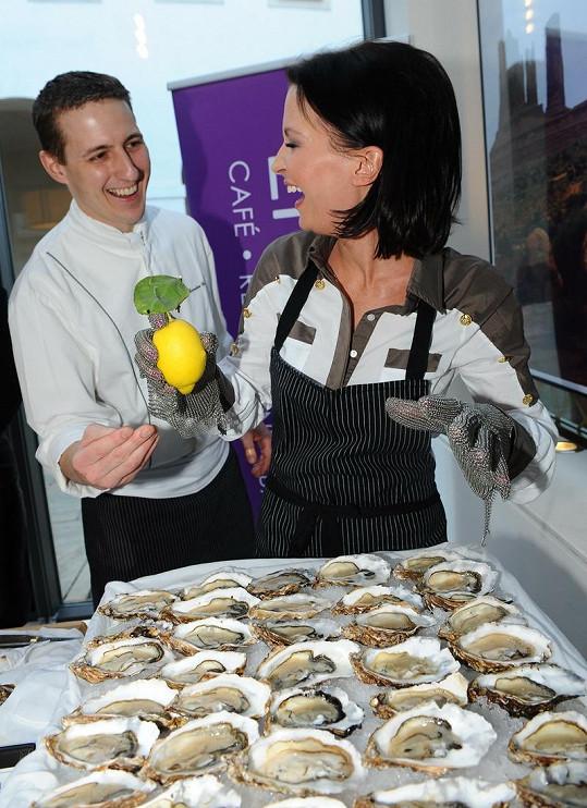 Gábina Partyšová se učila vařit od šéfkuchaře Miroslava Grusze.