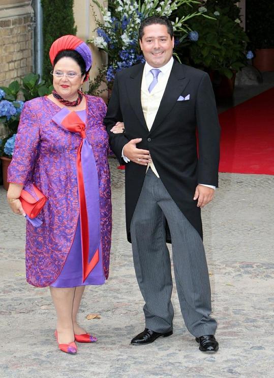 Ruská velkokněžna Marija Vladimirovna Romanova se synem Georgijem Michalovičem.