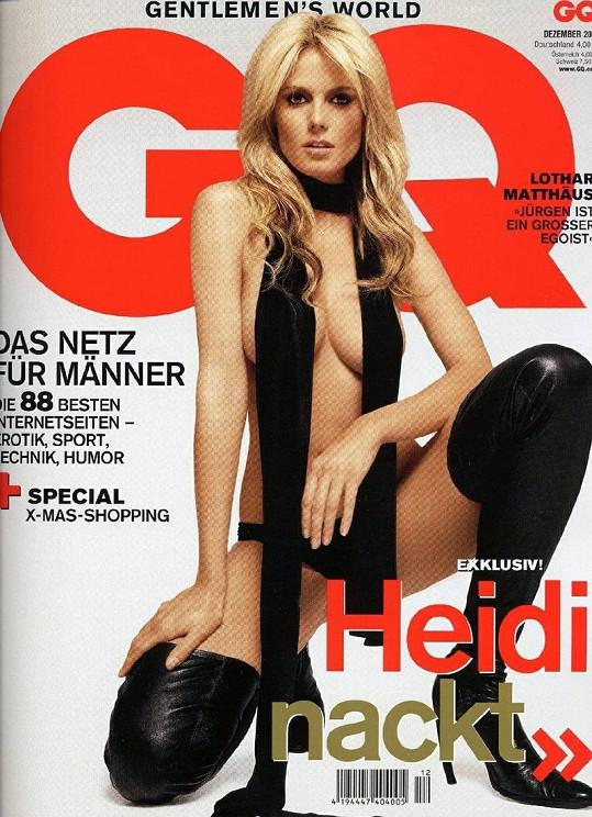 Heidi Klum na obálce německého časopisu GQ v prosinci 2004.