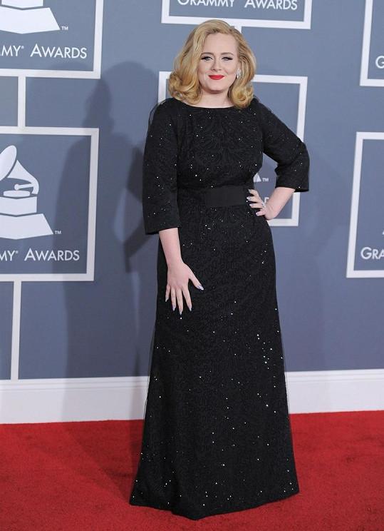 Slavná zpěvačka na udílení hudebních cen Grammy.