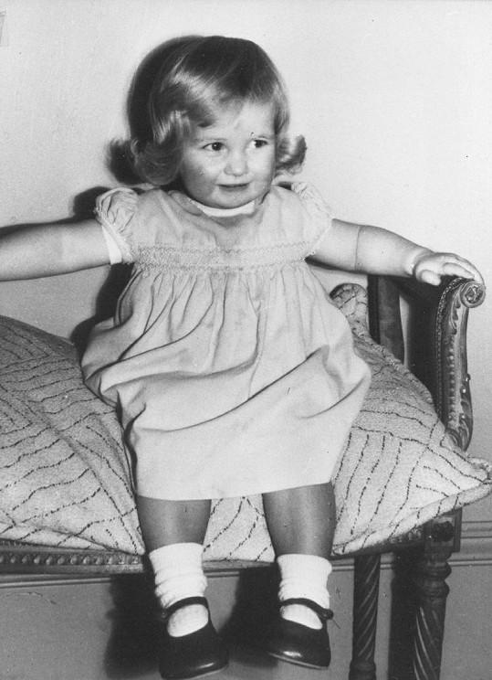 Princezna Diana v dětství.