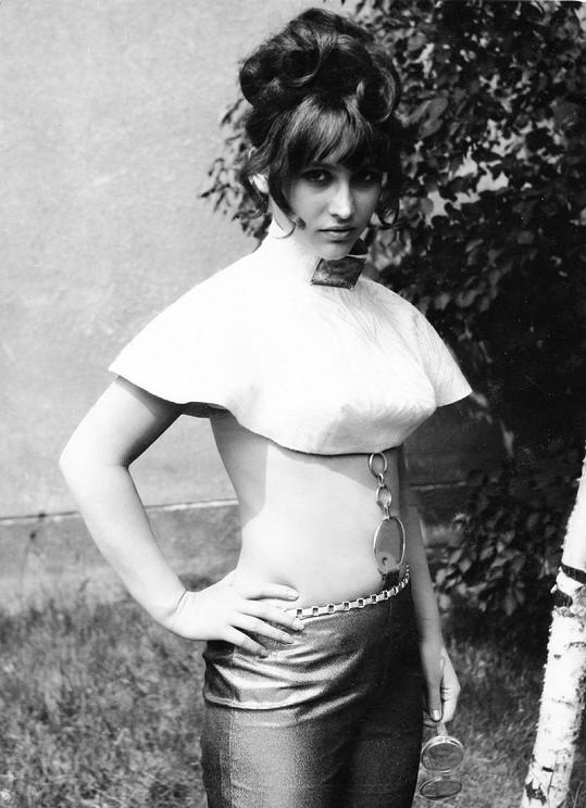 Petra Černocká na konkurzu v šedesátých letech