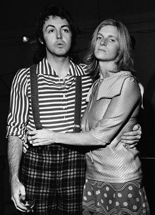 Paul McCartney se svou první ženou Lindou.