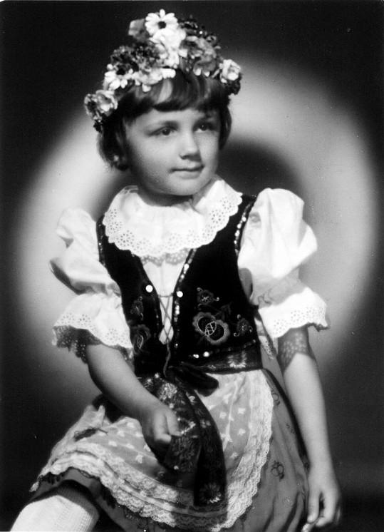 Petra Janů byla krásná už jako malá dívenka.