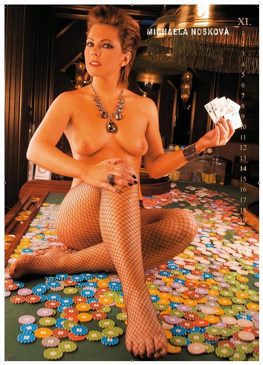 Míša Nosková se fotila nahá pro kalendář.