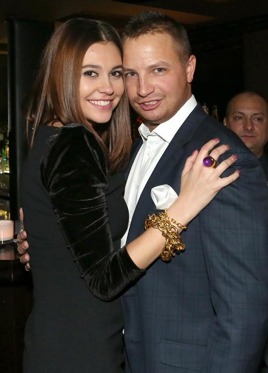 Hana Svobodová s přítelem Tomášem.