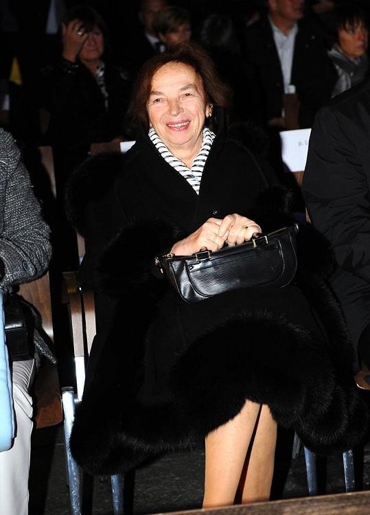 Livie Klausová byla čestným hostem přehlídky.