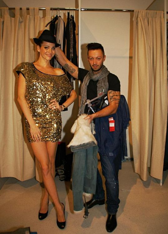 Verešová vyrazila za nákupy společně se stylistou Dušanem Chrástkem.
